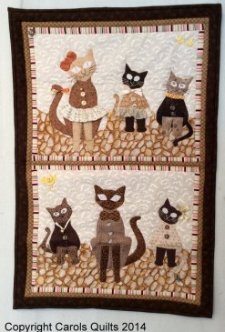 These gorgeous cats were made using Carols Quilts Cat Template for quilting