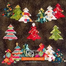 Hollys Christmas Quilt using Carols Quilts Christmas Tree Template community logo