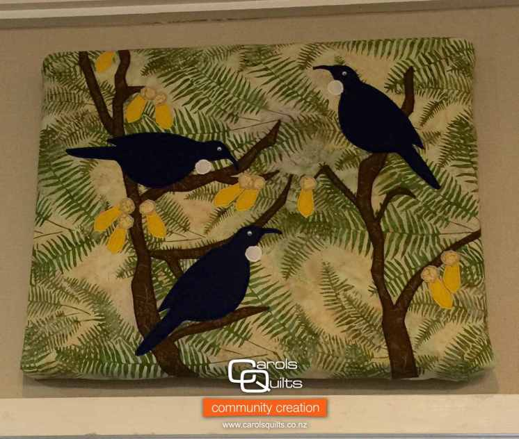 Maureen's Tuis | Tui Bird Quilt