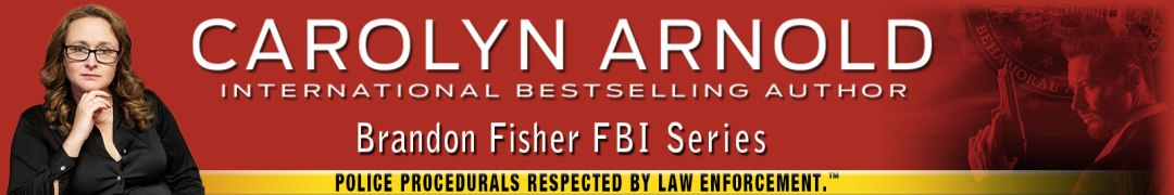 """Brandon Fisher with gun pointing at FBI logo and his name. Yellow tape """"POLICE PROCEDURALS RESPECTED BY LAW ENFORCEMENT.TM"""