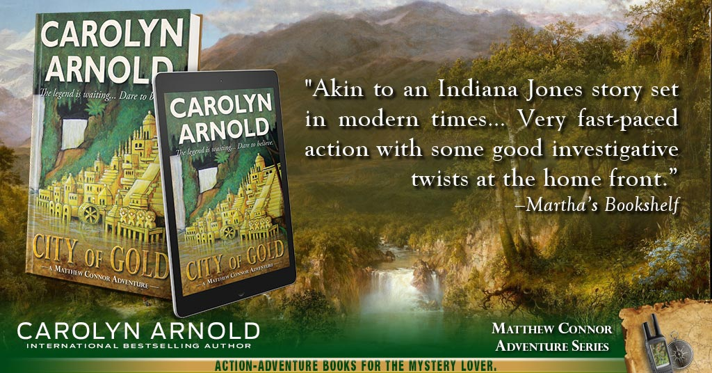 Providing an author's inspiration for writing CITY OF GOLD #action #adventure