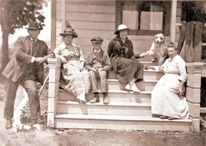 From Left to Right: John Patrick Adair, Mary Adair, Johnny Adair (died age 12), Ruth Smilie Adair, Caroline Goldsmith Adair