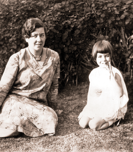 Ruth and Carolyn, age 4, in 1927
