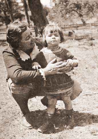 Little Carolyn and mother Ruth