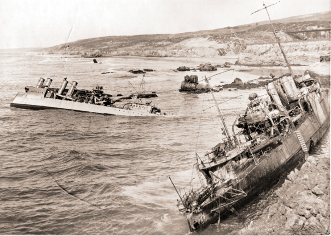 Crashing of Leslie's fleet at Point Mugu