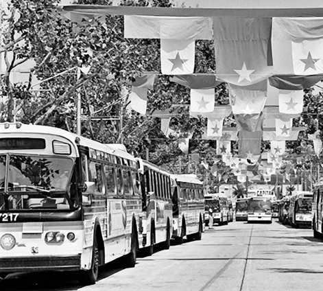 Buses at the 1984 Olympics