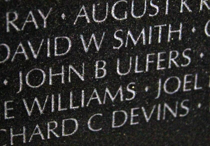 John B Ulfers Vietnam Wall