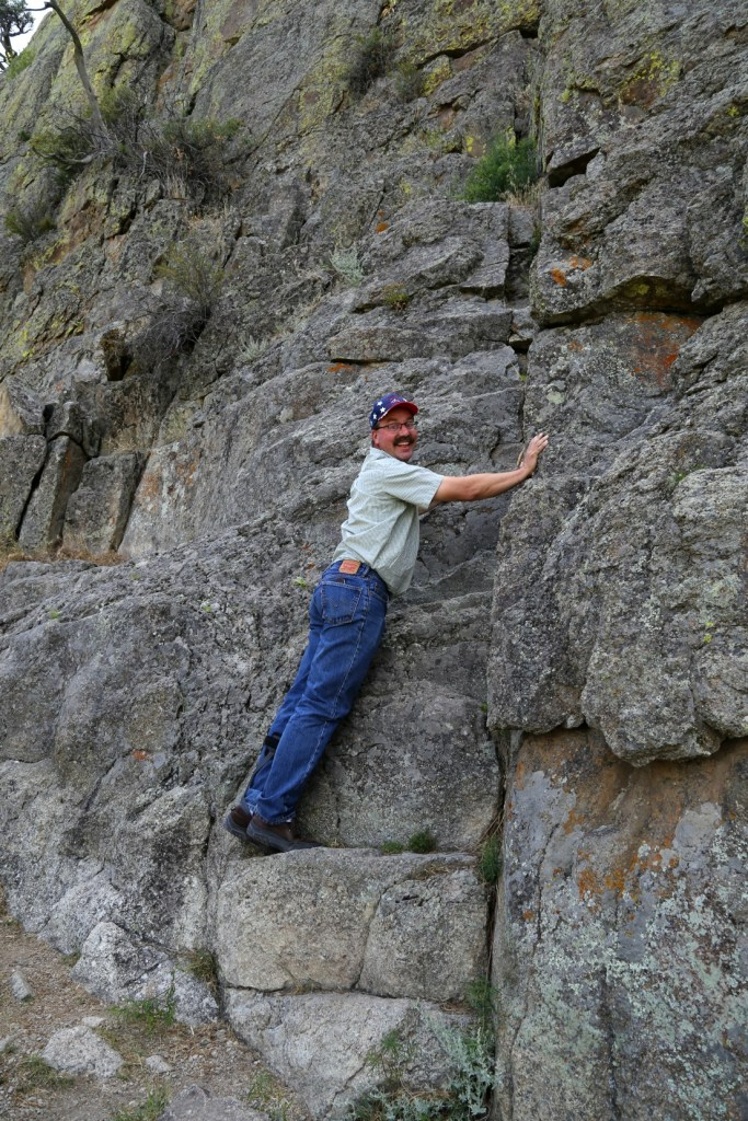 Jonathan climbing