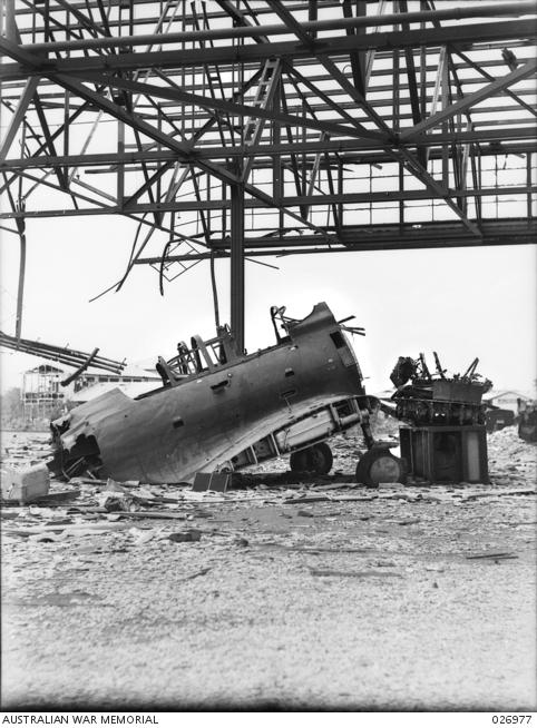 RAAF installations were seriously damaged. Source: Australian War Memorial