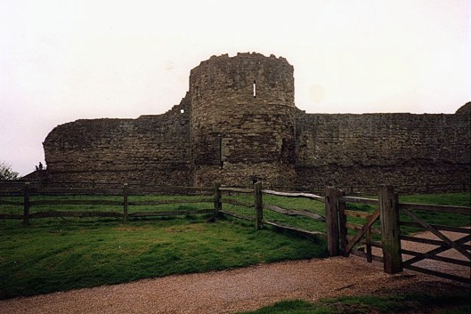 Remains of Pevensey Castle © Carolyn M Cash