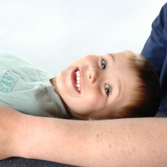 Joe receiving Osteopathy