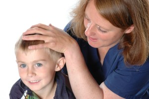 Ollie receiving Osteopathy