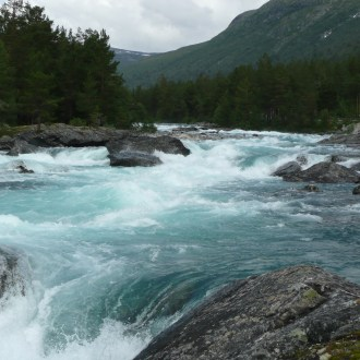 Glacial meltwater river
