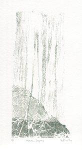 Image of Carolyn Murphy original monoprint called 'Hidden Depths'