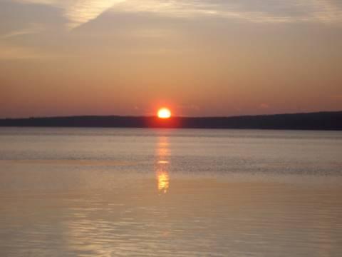 sunrise over Higgins Lake