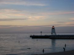 Charlevoix at sunset