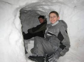 Luke and Kevin M. inside the tunnel