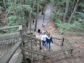 steps on the dune climb