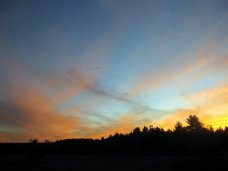 sun setting on drive home