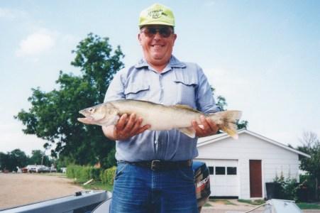 Dad loved fishing.