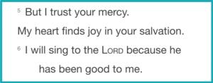 Psalm 13.5