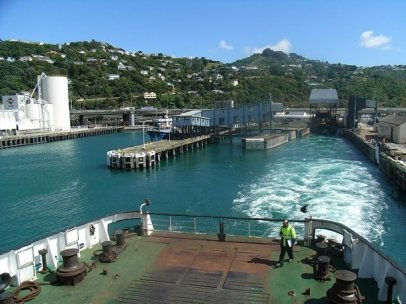 Leaving Wellington on the ferry
