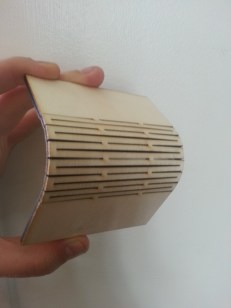 "Applying bending load to 1/8"" wood"