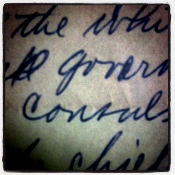 Real live, handwriting