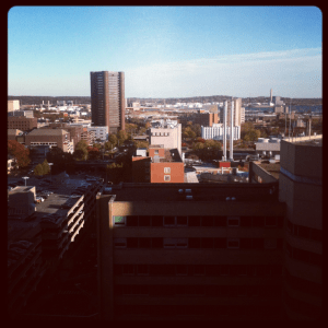 A view of the New Haven Skyline from Yale-New Haven Hospital
