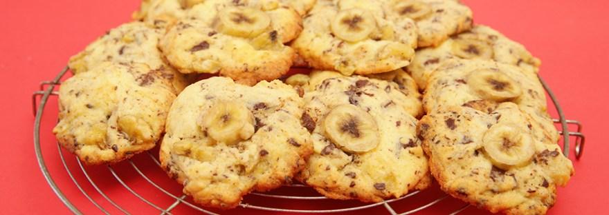 Cookie à la banane et au chocolat