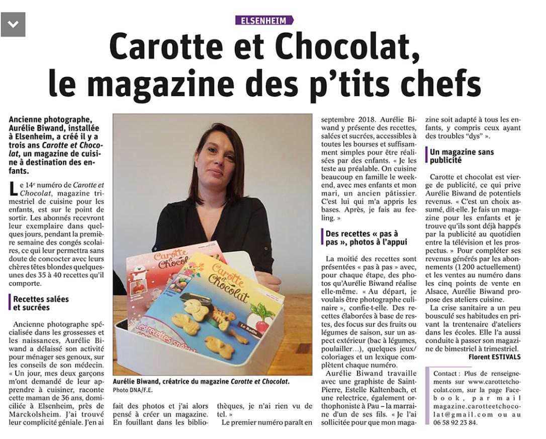 La presse parlent de Carotte et Chocolat