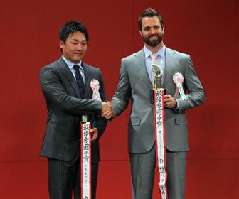 丸がセ・リーグ最優秀選手賞(MVP)を受賞、10年目で最高の栄誉!