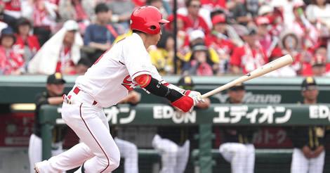西川25試合連続安打!王、バースら並ぶセ10位も「そ~っとして」