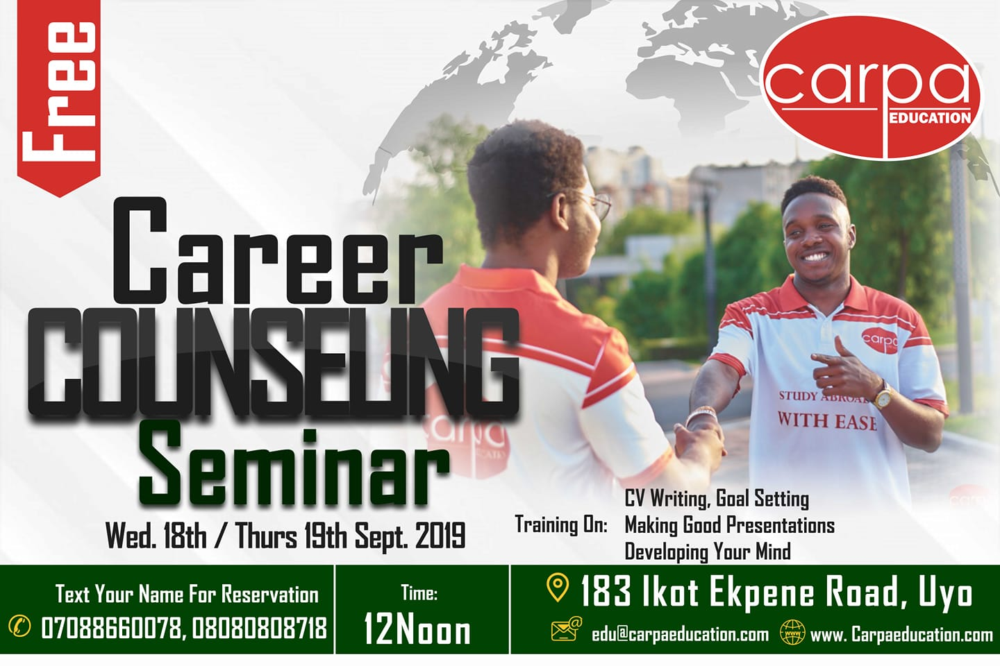 Free Career Counseling Seminar for Students and Graduates