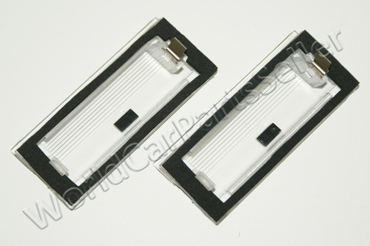 Bmw X5 E53 Rear License Plate Number Lamp Lenses Pair