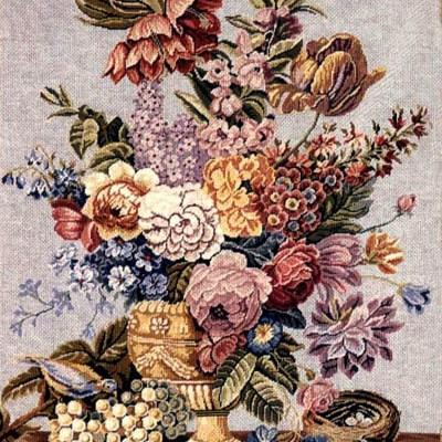 0226_Antik virágcsendélet