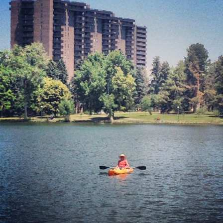 boating at washington park in denver