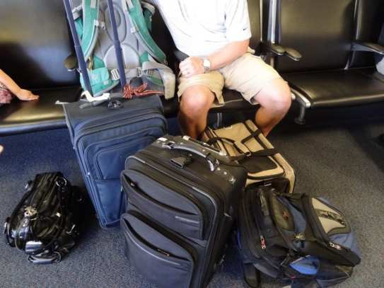 Travel Hacks for Parents: pack one bag with tolietries and check it. carry the rest on