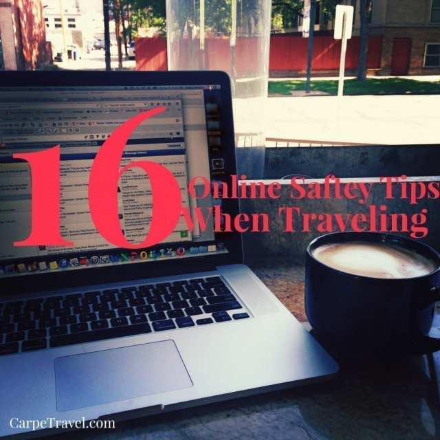 As we've learned from all the recent cyber hacks, your data isn't always protected...and when you're traveling you open yourself to even more online security and privacy risks. Tips that can help... 16 online safety tips when traveling