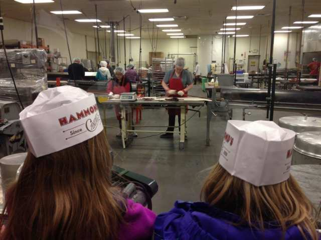 Free tour at Hammonds Candy, learning the art of candy making