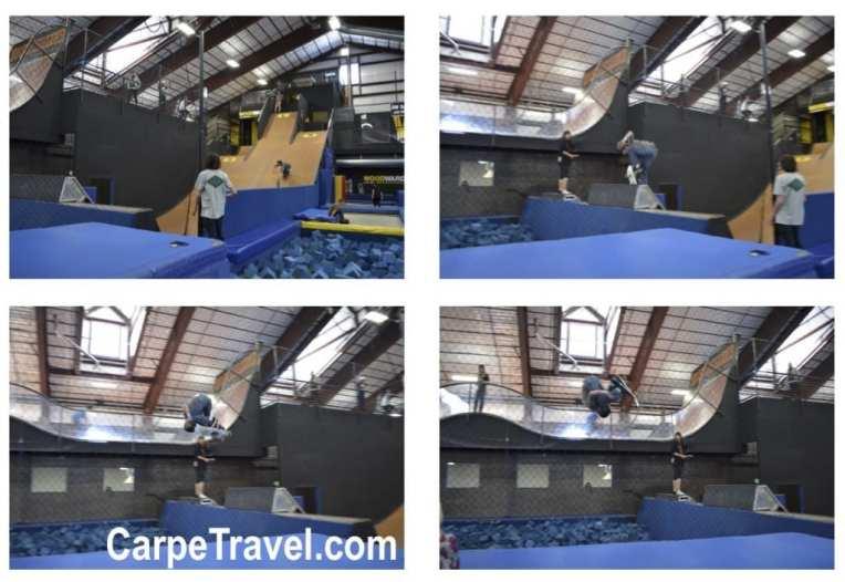 skateboard jump woordward