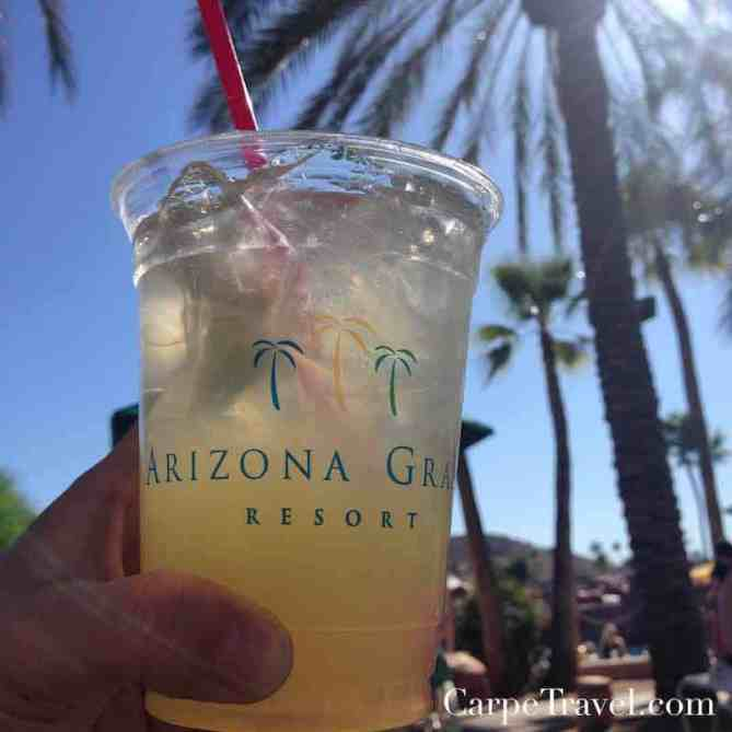 Drinks poolside at the Arizona Grand Resort and Spa - such an oasis!