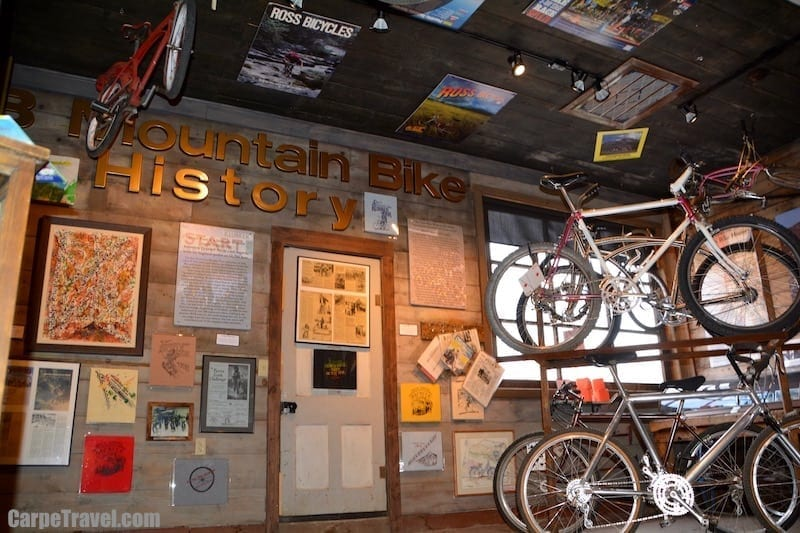 Mountain biking was originally believed to have been created in Crested Butte…The Heritage Museum in downtown Crested Butte still houses a few pieces from the original Mountain Bike Hall of Fame as a tribute.