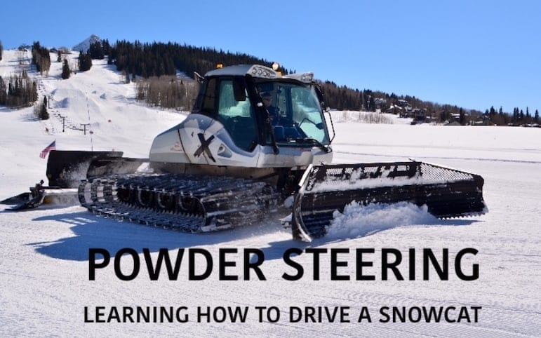 Things to do in Crested Butte Colorado: Learn to drive a snowcat. Seriously, it's one heck of a way to carve up the snow. Click over for other ideas on things to do in Crested Butte.