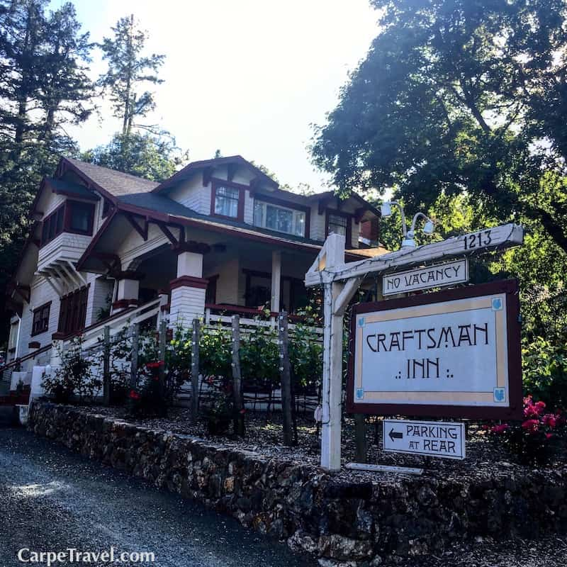 Heading to Napa Valley? The Craftsman Inn is one of the top Calistoga bed and breakfast, click over for a full review.