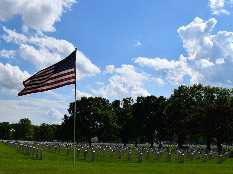 Fort Snelling National Cemetery in Minneapolis, MN, Photo by Kendra Pierson at at HeadbandForToday.com.