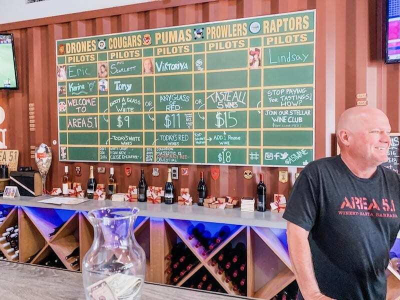 Santa Barbara Funk Zone Wineries - Area 5.1