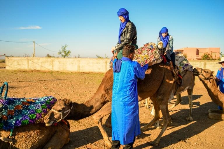 Camel riding in Marrakech