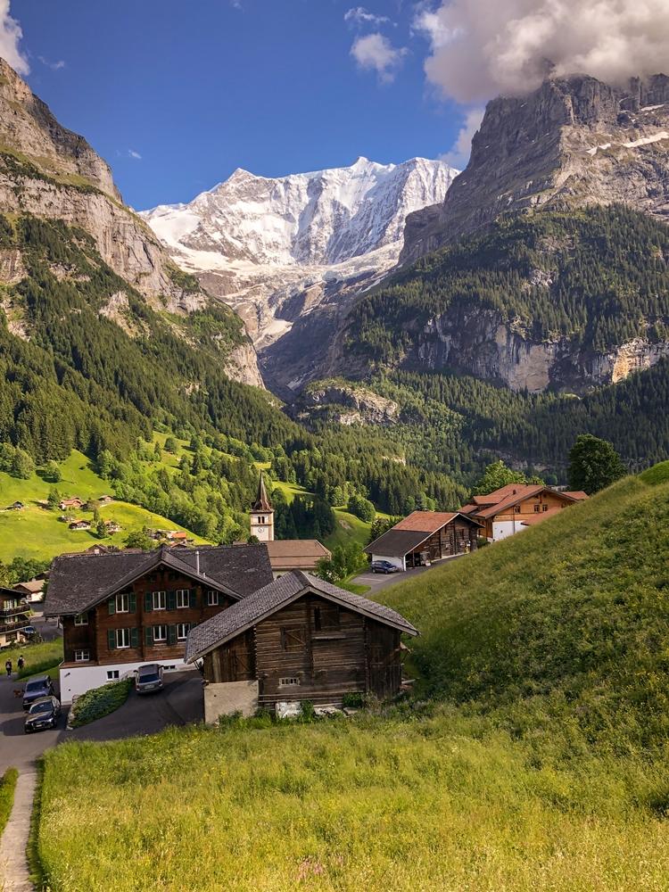 Eiger Mountain, Grindelwald Switzerland in Summer