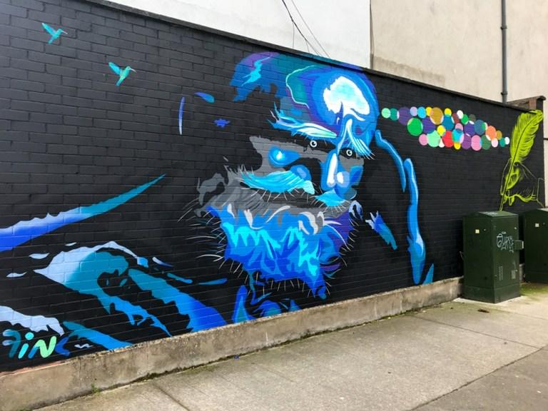 George Bernard Shaw Mural -Fink